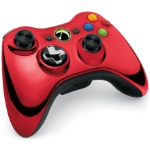 Xbox 360 - Wireless Controller chromrot (Chrome Red)