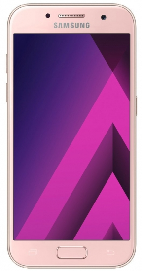 Samsung Galaxy A3 (2017) Smartphone (12,04 cm (4,7 Zoll) Touch-Display, 16 GB Speicher, Android 6.0) peach-cloud / pink