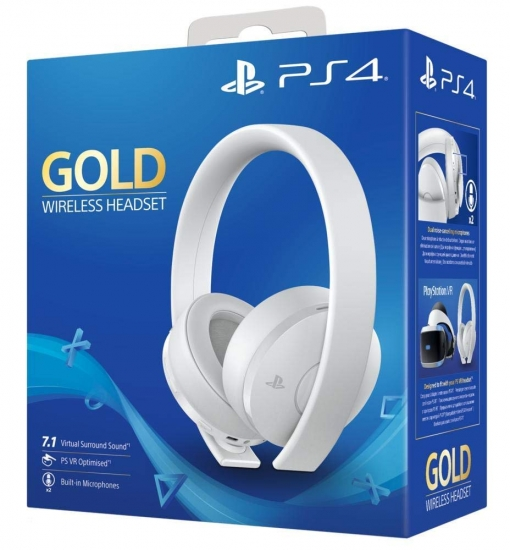 PlayStation 4 Gold Wireless Headset, weiß weiss (PS4)