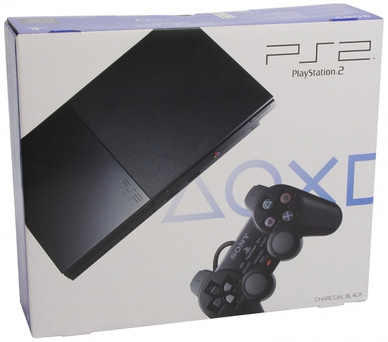 PlayStation 2 - PS2 Konsole Slim, black (inkl. Dual Shock Controller)