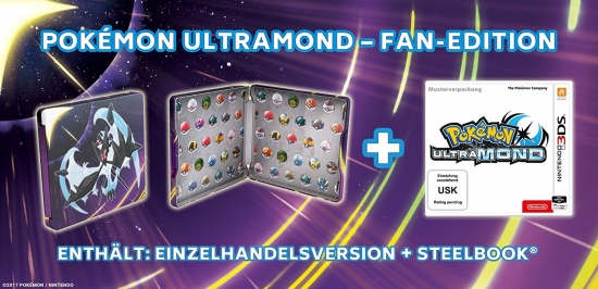 Pokemon Ultramond Fan Edition (deutsch) (AT PEGI) (3DS) inkl. 12 Flottbälle