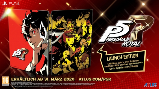 Persona 5 Royal Launch Edition (englisch) (AT PEGI) (PS4) inkl. Steelbook