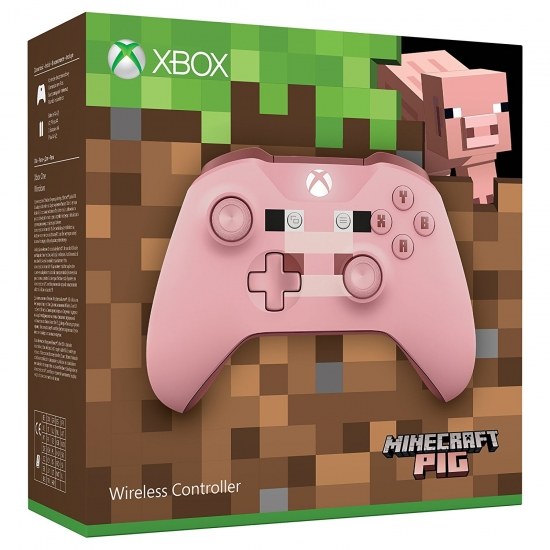 Xbox Wireless Controller 2017 - Minecraft Pig Pink Limited Edition