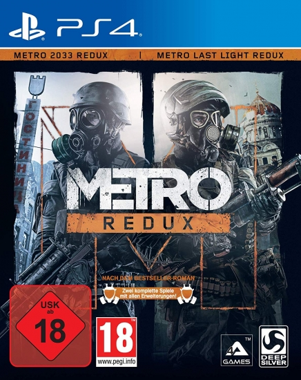 Metro: Redux (Metro 2033 + Metro Last Light) [uncut] (deutsch) (AT PEGI) (PS4)