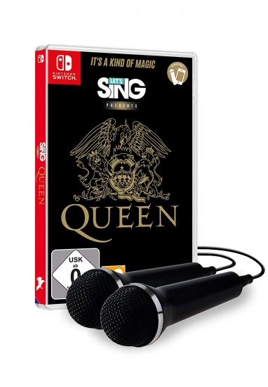 Let's Sing Queen + 2 Mikrophone (deutsch) (AT PEGI) (Nintendo Switch)