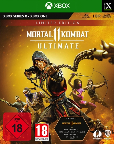 Mortal Kombat 11 Ultimate Limited D1 Steelbook Edition [uncut] (deutsch) (AT PEGI) (XBOX ONE / XBOX Series X) inkl. Time Warriors Skins Pack