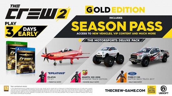 The Crew 2 Gold Edition (deutsch) (AT PEGI) (PS4) inkl. Season Pass / Legendary Motors-Paket