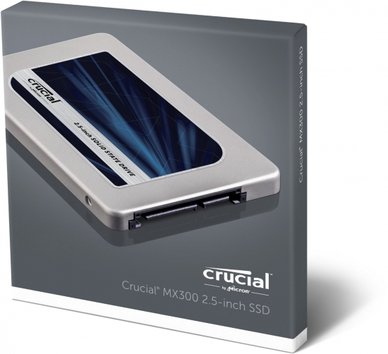 Crucial MX300 1TB SATA interne Solid State Drive SSD (7mm (mit 9,5mm-Adapter), 2,5 Zoll) (CT1050MX300SSD1))