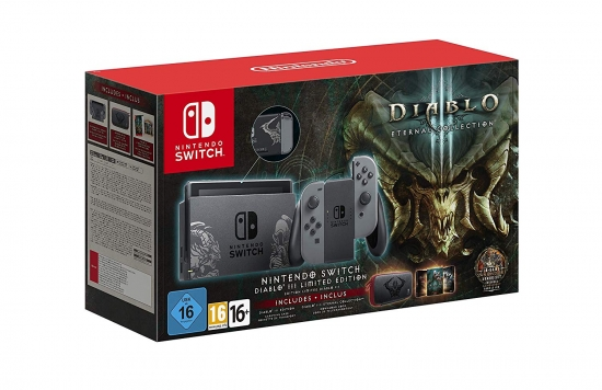 Nintendo Switch Konsole Diablo III Eternal Collection Limited Edition Bundle inkl. exklusivem Ganondorf Rüstungsset