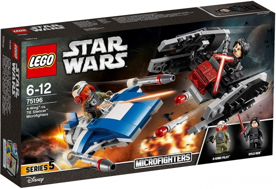 LEGO Star Wars 75196 A-Wing vs. TIE Silencer Microfighters [neu]