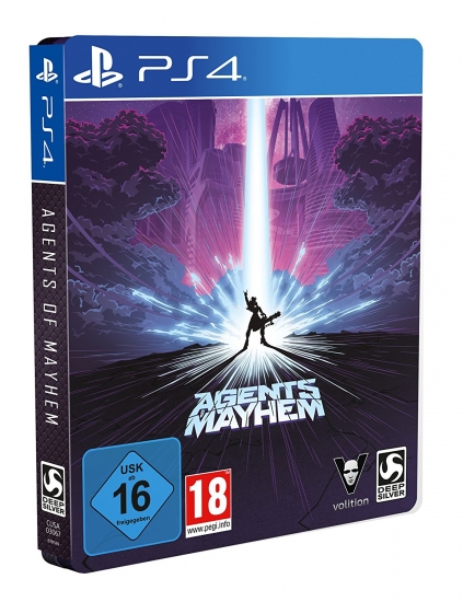 Agents of Mayhem D1 Steelbook Edition [uncut] (deutsch) (AT PEGI) (PS4) inkl. 7 DLCs