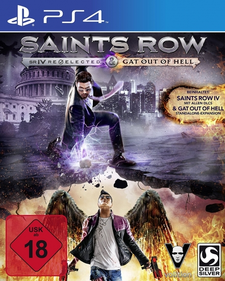 Saints Row 4 (IV) Re-elected + Gat Out of Hell [uncut] (deutsch) (DE) (PS4)