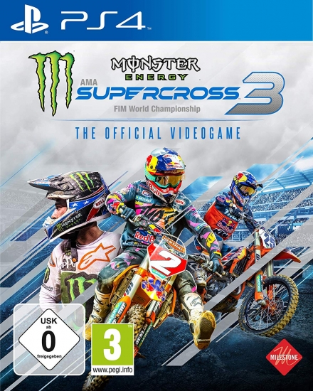 Monster Energy Supercross The Official Videogame 3 (deutsch) (AT PEGI) (PS4) inkl. Outfit Starting Pack