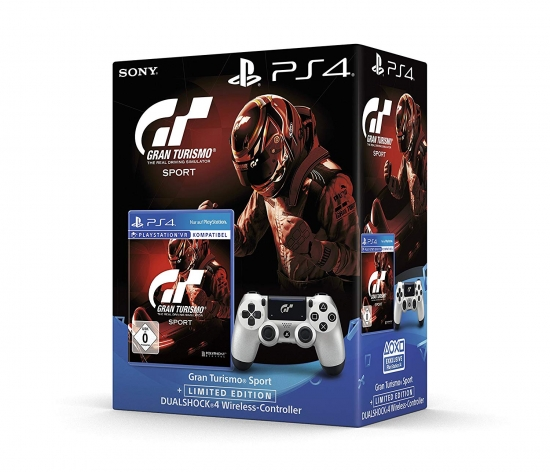 Gran Turismo Sport + Playstation 4 Wireless DualShock 4 Controller Limited Edition (deutsch) (DE) [Playstation VR kompatibel] (PS4)