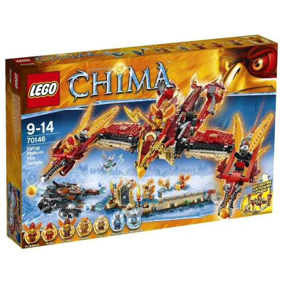Lego Legends of Chima 70146 - Phoenix Fliegender Feuertempel [neu]