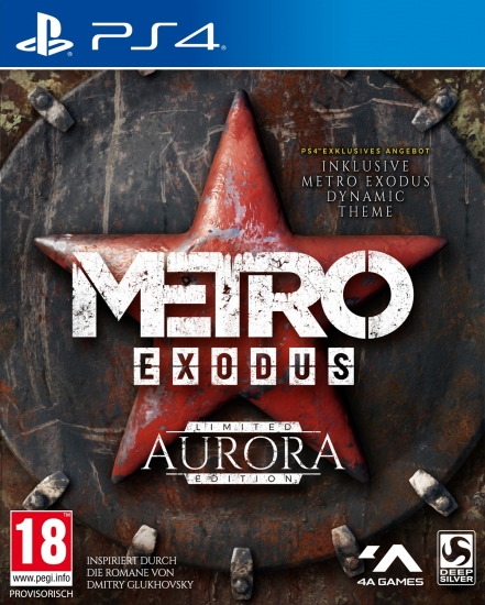 Metro Exodus Aurora Limited Edition [uncut] (deutsch) (AT PEGI) (PS4) inkl. Steelbook / Artbook / Expansion-Pass / dynamisches Metro-Theme / Thumbgrips