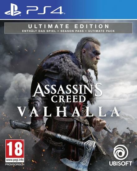 Assassin's Creed Valhalla Ultimate Edition [uncut] (deutsch) (AT PEGI) (PS4) inkl. Bonus-Mission / Season Pass / Ultimate-Paket
