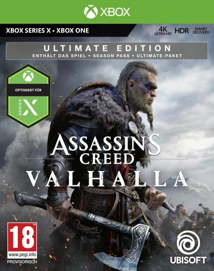 Assassin's Creed Valhalla Ultimate Edition [uncut] (deutsch) (AT PEGI) (XBOX ONE / XBOX Series X) inkl. Bonus-Mission / Season Pass / Ultimate-Paket