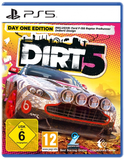 DIRT 5 Day One Edition (deutsch) (AT PEGI) (PS5) inkl. Ford F-150 Raptor PreRunner DeBerti Design