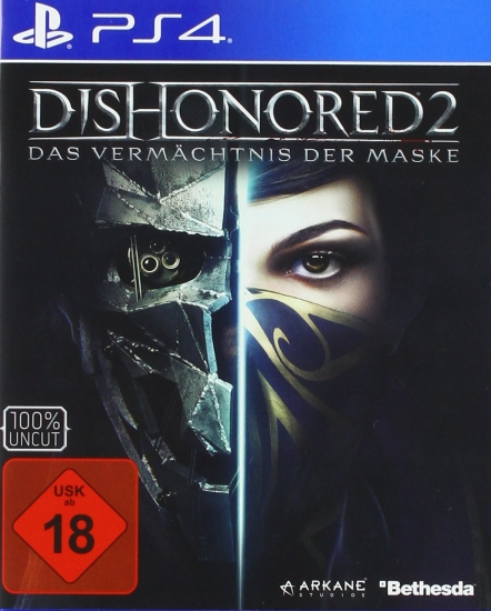 Dishonored 2 Das Vermächtnis der Maske + Tod des Outsiders Double Pack [uncut] (deutsch) (DE USK) (PS4)