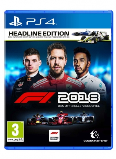F1 2018 Headline Edition (deutsch) (AT PEGI) (PS4) inkl. 2009 Brawn BGP-001 & Williams FW25 CLASSIC Car-DLC