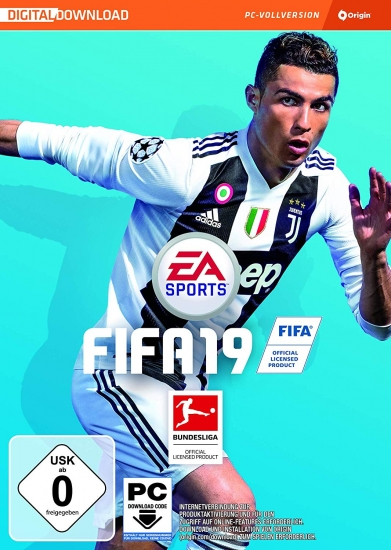 Fifa 19 (deutsch) (AT PEGI) (PC) [Code in a Box] inkl. 5 Jumbo Premium Gold Packs / Leihspieler / FUT Kits