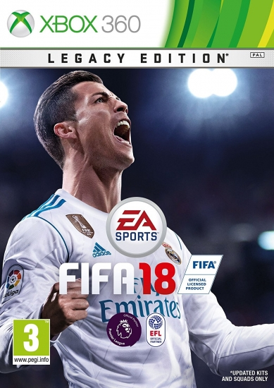 FIFA 18 - Legacy Edition (deutsch) (AT PEGI) (XBOX360) inkl. 5 Jumbo Premium Gold-Sets