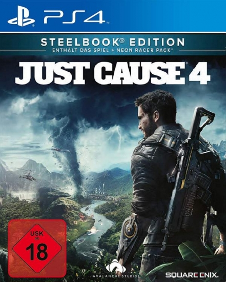 Just Cause 4 Steelbook Edition [uncut] (deutsch) (DE USK) (PS4) inkl. Neon Racer Pack