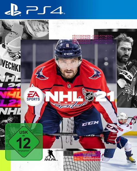 NHL 21 (deutsch) (DE USK) (PS4) inkl. be a Pro EP-Boost / 2 HUT Diamant-Spieler Choice-Packs / 1 Eishockeybeutel