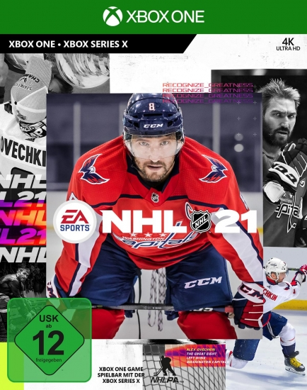 NHL 21 (deutsch) (DE USK) (XBOX ONE) inkl. be a Pro EP-Boost / 2 HUT Diamant-Spieler Choice-Packs / 1 Eishockeybeutel