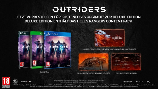 Outriders [uncut] (deutsch) (AT PEGI) (PS4) inkl. Deluxe Edition Upgrade