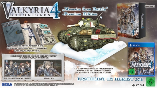 Valkyria Chronicles 4 Memoirs from Battle Premium Edition (deutsch) (DE) (PS4)
