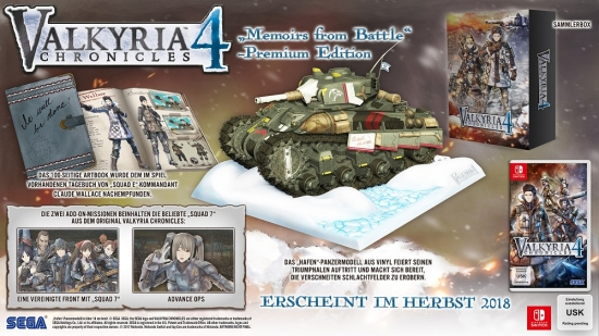 Valkyria Chronicles 4 Memoirs from Battle Premium Edition (deutsch) (DE) (Nintendo Switch)