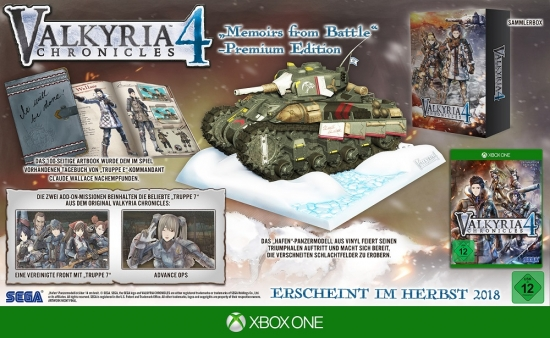 Valkyria Chronicles 4 Memoirs from Battle Premium Edition (deutsch) (DE) (XBOX ONE)
