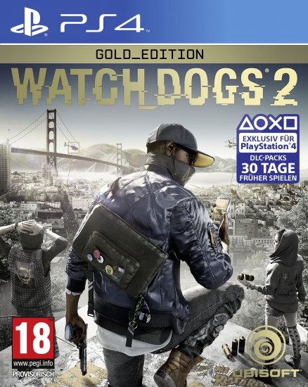 Watch Dogs 2 - Gold Edition [uncut] (deutsch) (AT PEGI) (PS4) inkl. Season Pass / Zodiac Killer Mission / Gefängnis-Outfit
