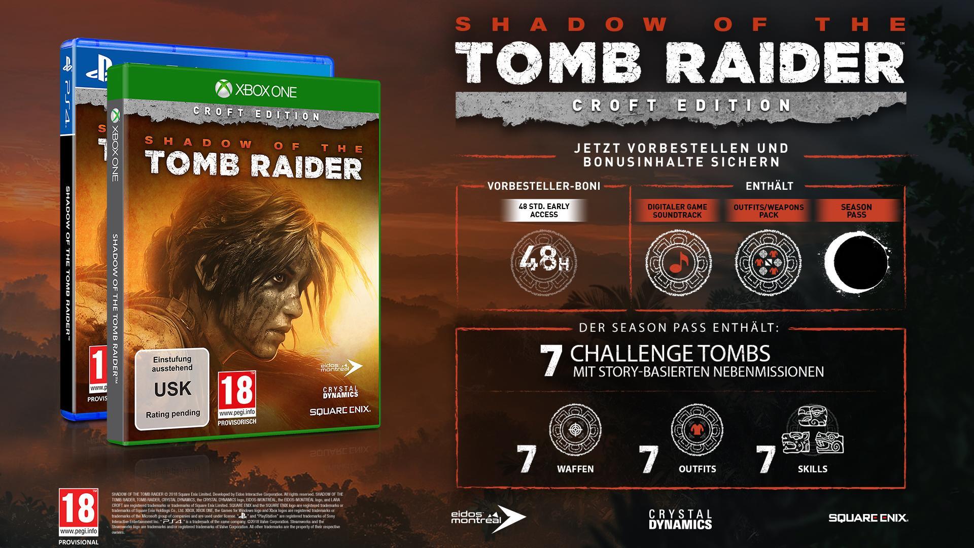 Shadow Of The Tomb Raider Croft Edition Uncut Deutsch At Pegi