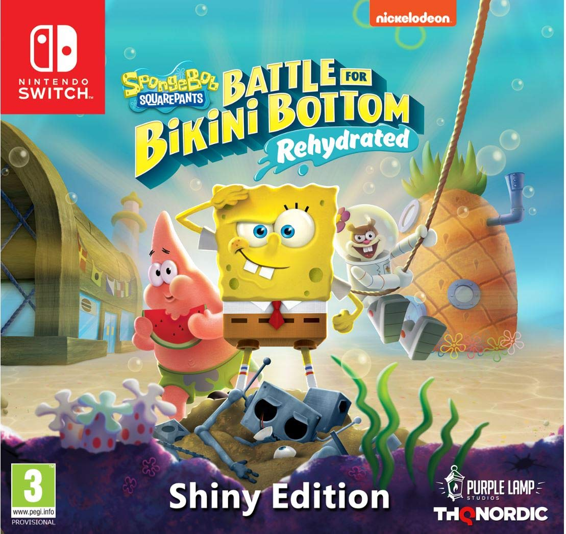 Spongebob SquarePants Battle for Bikini Bottom Rehydrated Shiny Edition  (deutsch) (AT PEGI) (Nintendo Switch)