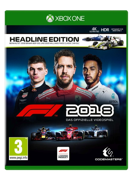 f1 2018 headline steelbook edition deutsch at pegi. Black Bedroom Furniture Sets. Home Design Ideas