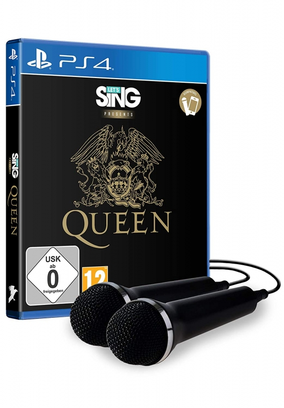 Let's Sing Queen + 2 Mikrophone (deutsch) (AT PEGI) (PS4)