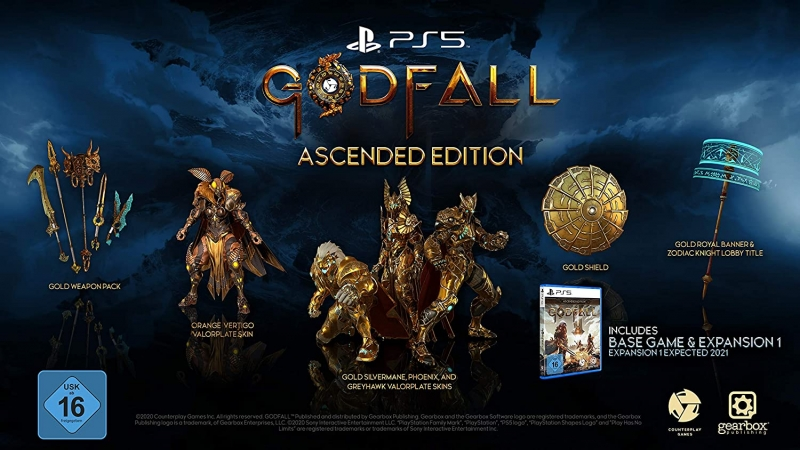 Godfall Ascended Edition [uncut] (deutsch) (DE USK) (PS5) inkl. Expansion 1 / Skin-Pack