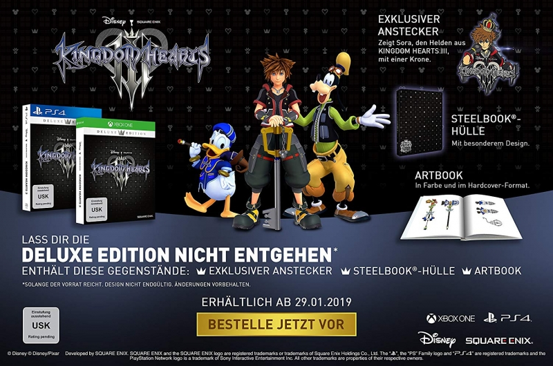 Kingdom Hearts 3 III Deluxe Steelbook Edition (deutsch) (AT PEGI) (XBOX ONE)