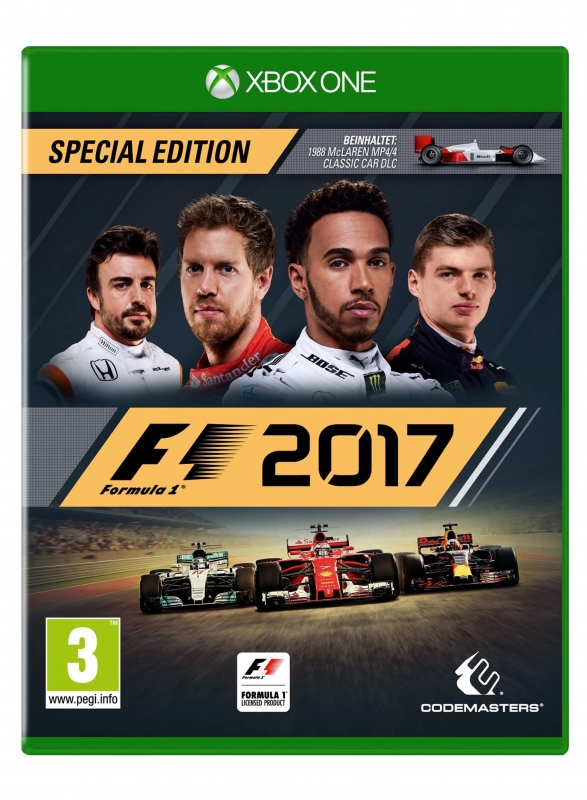 F1 2017 Special Edition (deutsch) (AT PEGI) (XBOX ONE) inkl. McLaren MP4/4