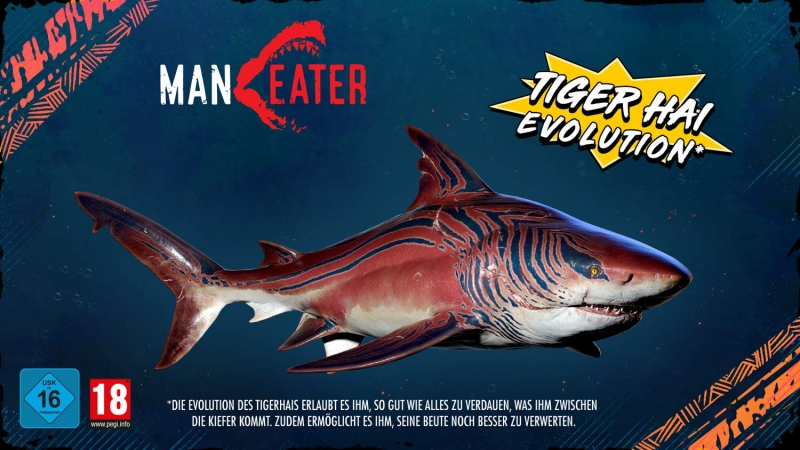 Maneater Day One Edition [uncut] (deutsch) (AT PEGI) (XBOX ONE) inkl. Tiger Hai Evolution