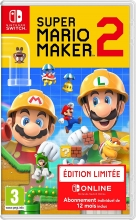 Super Mario Maker 2 Limited Edition (deutsch) (FR PEGI) (Nintendo Switch) inkl. 12 Monate Online-Mitgliedschaft
